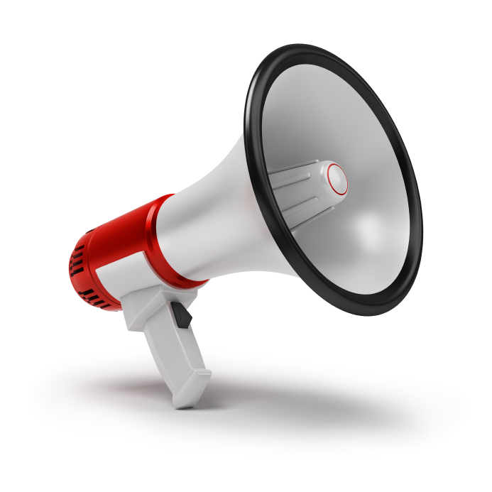 bullhorn to deliver messages to employees